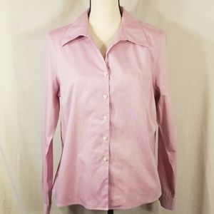 Evan-Picone womens size 14 pink button up shirt